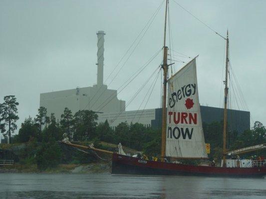 28.08.2012 - Protest vor dem AKW Oskarshamn