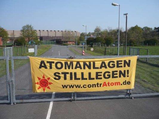 Protest gegen das Zwischenlager Ahaus im Mai 2008