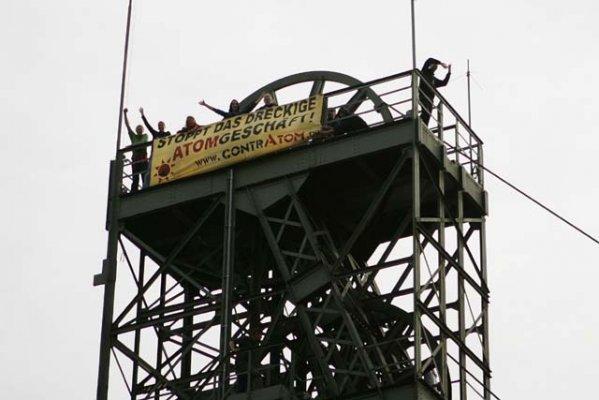 Besetzung des ASSE-Schachts, 02.09.2009; Foto: PubliXviewing.de