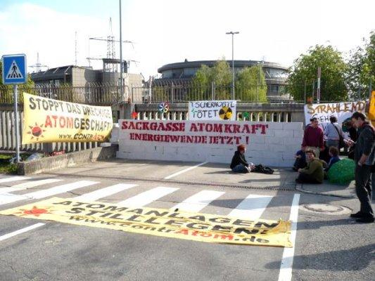 AKW Neckarwestheim, Blockadeaktion am 23.04.2009