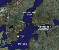 AKW-Standorte um die Ostsee