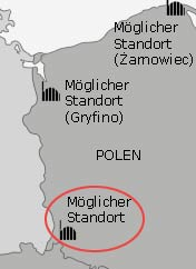 Standorte polnischer AKW; Bild: mdr.de (Ausschnitt)