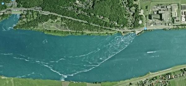 Kühlwasser AKW Krümmel; Bild: google-earth