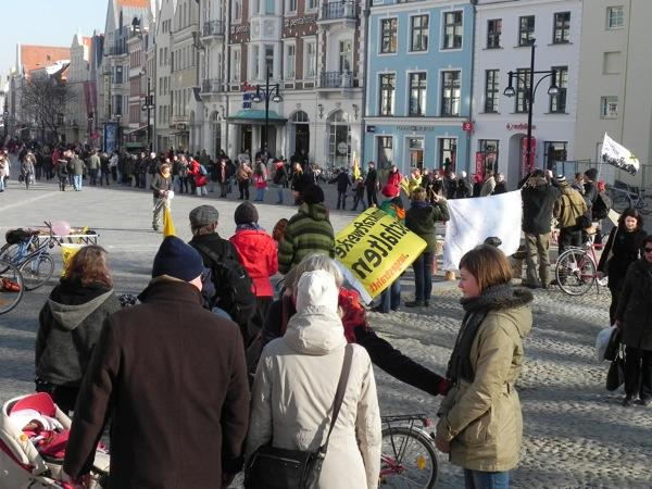Menschenkette 26.02.2011 Rostock