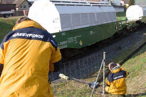 Castortransport in der Schweiz; Bild: greenpeace.ch