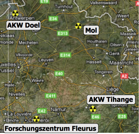 Atomanlagen in Belgien