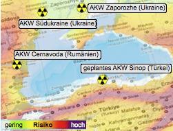 Erdbebenrisiko rund um das Schwarze Meer