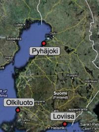 Atom-Standorte in Finnland