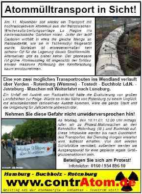 Flugblatt zum Castor 2003