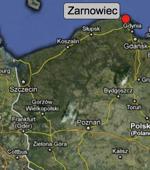 Polen Standort AKW Zarnowiec; Karte: maps.google.de