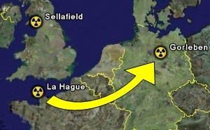 Rücktransporte Atommüll Sellafield / LaHague