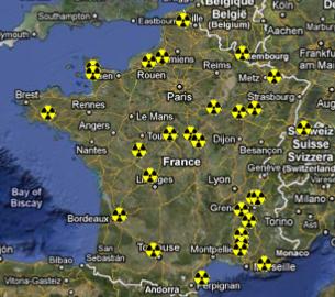 Atomstandorte in Frankreich