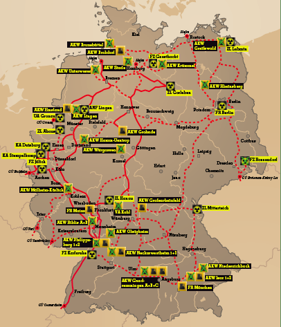 Studie: Atomtransporte über die Straße