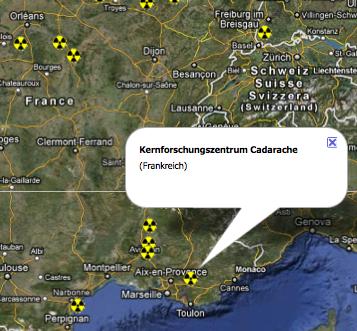 Atomstandort Cadarache, Frankreich