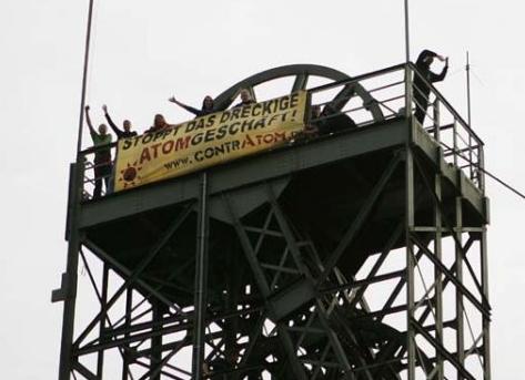 Stoppt das dreckige Atomgeschäft! - Besetzung des Asse-Schachts am 02.09.2009