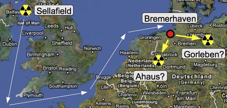Rücktransporte Sellafield Gorleben Ahaus