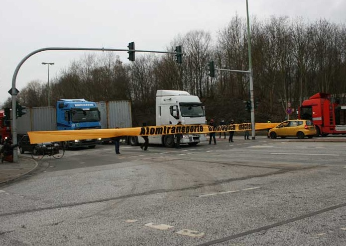 22.2.2012 - Aktion gegen Atomtransporte in Bremerhaven