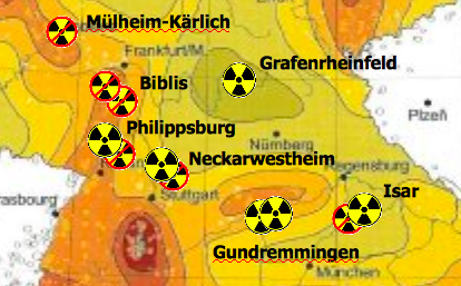 Erdbebengefährdete AKW in Deutschland