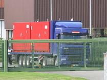 Atommüllanlieferung in Ahaus per LKW
