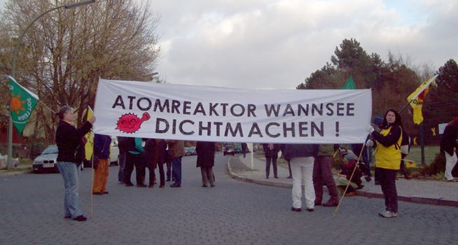 Demonstration Atomkraftgegner
