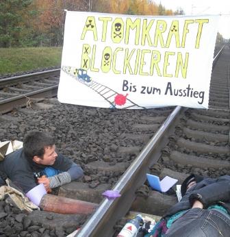 Castorblockade Dalle, November 2010