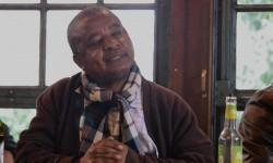 Kongolesischer Anti-Atom-Aktivist Golden Misabiku im Wendland