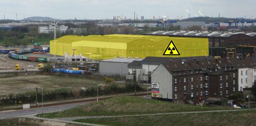 GNS-Hallen Angerhausen; Bild: www.duisburg-atomfrei.de