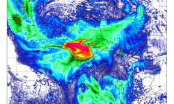 Unfall-Szenario AKW Gundremmingen-B mit meteorologischen Daten am 20. August 1995
