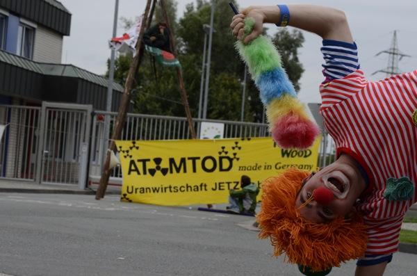 31.07.2012 - Protest vor UAA Gronau / Foto: Pay Numrich