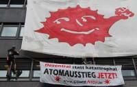 """""""Atomausstieg jetzt!"""" - Protestaktion bei Vattenfall am 09.07.2009"""