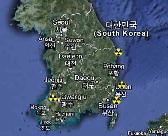 Atomstandorte in Südkorea