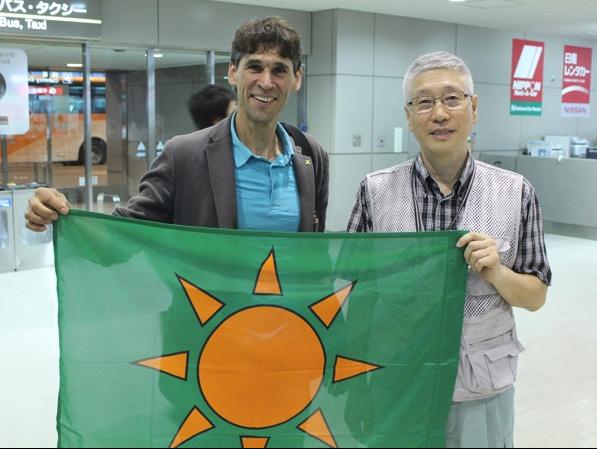 ?BI-Vorsitzender Donat und japanischer Atomkraftgegner Manabe in Tokyo