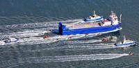 "23.09.2012 - Protest gegen Plutonium-Schiff ""Atlantic Osprey"" in der Wesermündung; Bild: greenpeace"