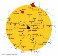 170km-Radius / Katastrophenschutz AKW Grohnde