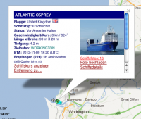 12.11.2012: Atlantic Osprey in Workington; Quelle: marinetraffic.com
