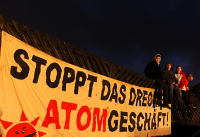 Proteste gegen MOX-Schiff, Nordenham, 18.11.2012 / Bild: publixviewing.de