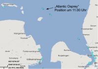 Atlantic Osprey, 18.11., 11.00 Uhr; Quelle: marinetraffic.com
