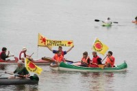 "2010: ""Tschüss Vattenfall"" - Protestaktion vor dem AKW Krümmel"
