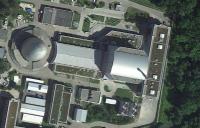 Forschungsreaktor München (rechts FRM-II, links FRM-I); Bild: google