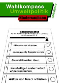 Greenpeace: Wahlkompass für Niedersachen 2013
