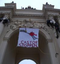 18.3. - Kletterprotest in Potsdam; Bild: nirgendwo.info