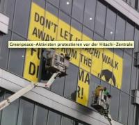 07.03.2013 - Protest bei Hitachi / Duisburg; Bild: greenpeace.de