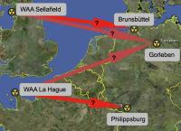 Castortransporte künftig nicht mehr nach Gorleben? Karte: googleearth