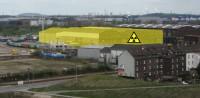 GNS Hallen im Wohngebiet; Bild: duisburg-atomfrei.de