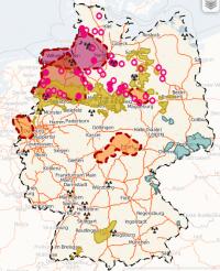 Ehrlicher Neustart bei der Endlagersuche beträfe 13 Bundesländer; Grafik: greenpeace