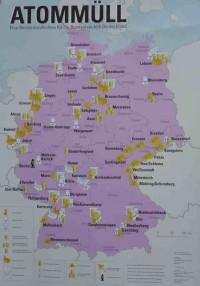 Plakat: Wo in Deutschland Atommüll lagert