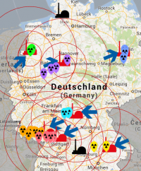 Erste Ballon-Fundorte am 19.11.2013; Bild: atomalarm.info