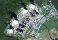 Atomkraftwerk Cattenom / Frankreich; Bild: google