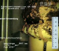 AKW Brunsbüttel: Kaverneninspektion - Fass F1385 F1365; Bild: Vattenfall
