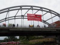 Atomtransporte stoppen! - Aktion in Kiel, 24.6.2014, Bild: bi-kiel.blogspot.de